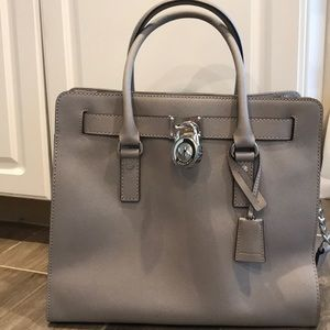 Michael Kors Hamilton Large Leather Satchel